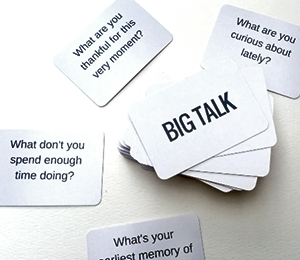 Cartes Big talk : discussion intéressante